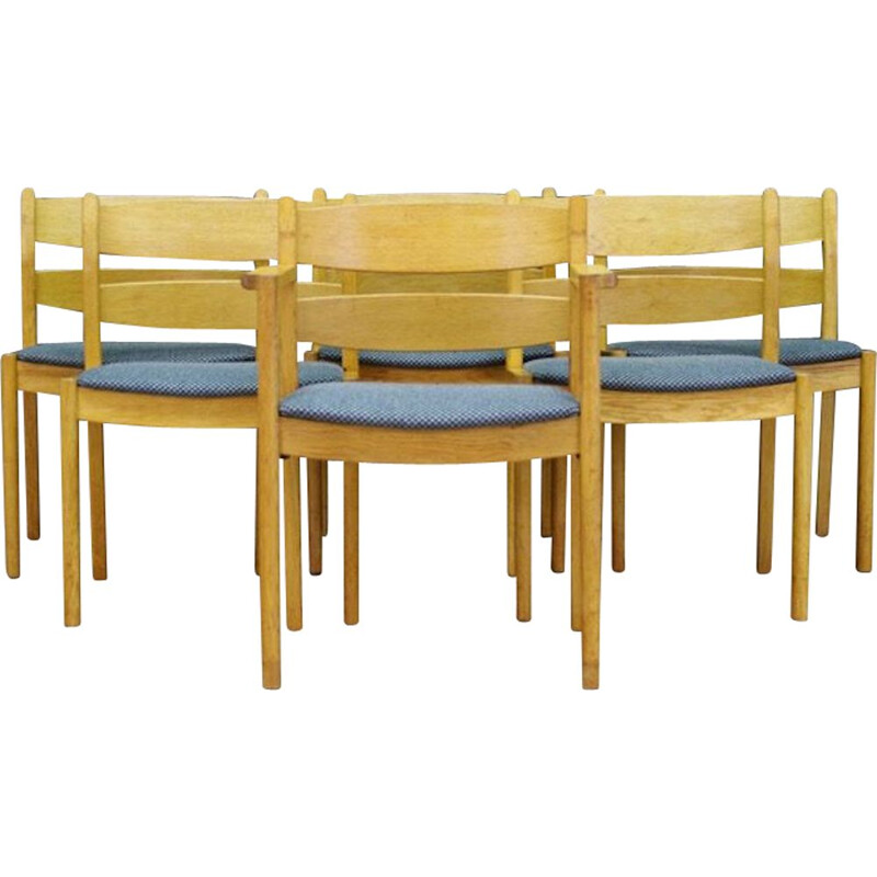 Set of 6 Danish vintage chairs Kurt Ostervig, 1970s