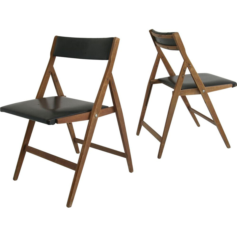 Pair of vintage Eden dining chairs from Gio Ponti, 1950s