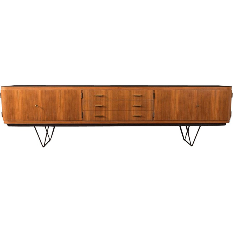 Vintage walnut and formica sideboard, Germany, 1960s