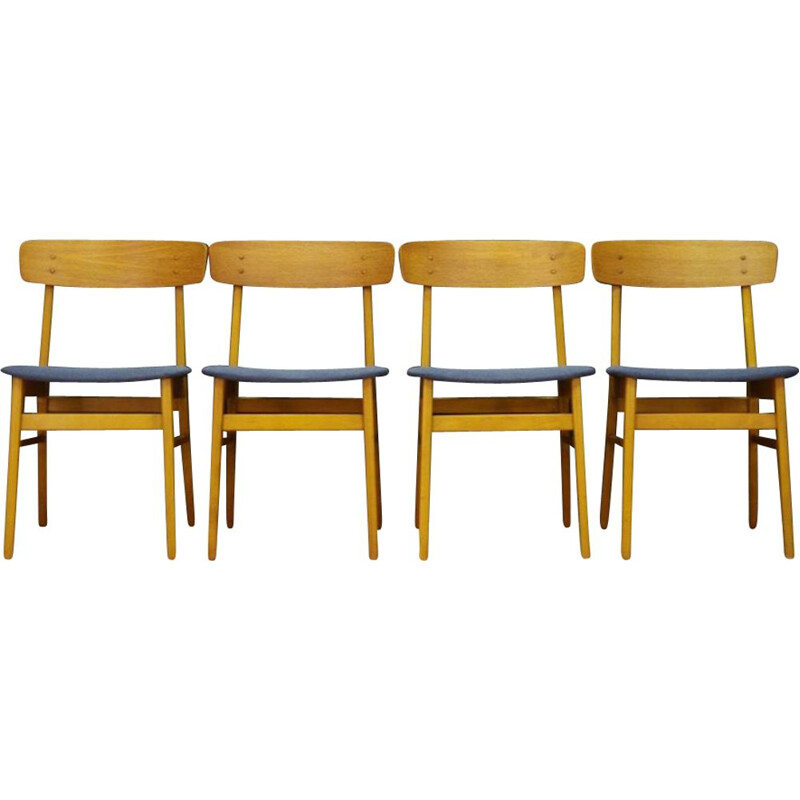 Set of 4 vintage teak chairs from Farstrup, 1960-70s