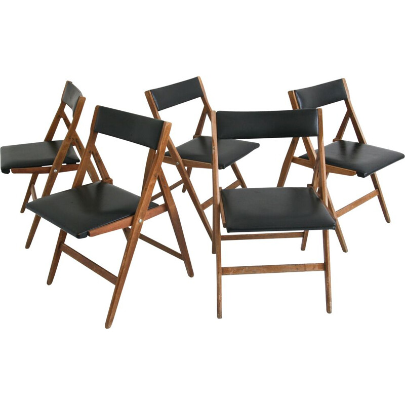 Set of 6 vintage Eden dining chair from Gio Ponti, 1950