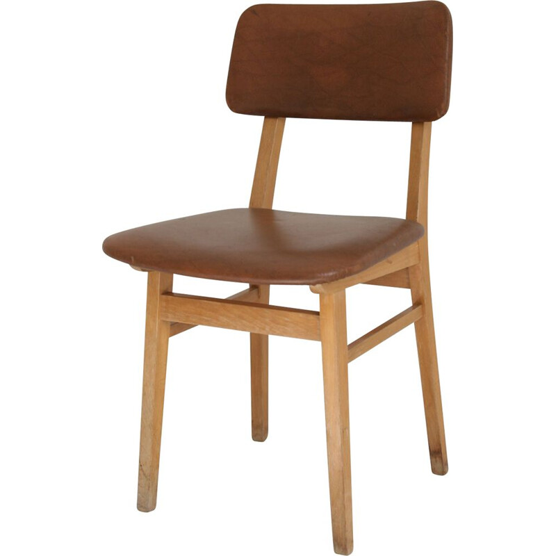 Vintage chair in brown color, 1960s