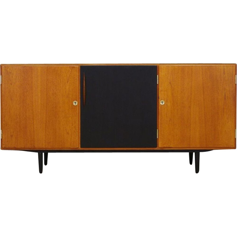 Vintage sideboard in teak with black door, Danish Design, 1960