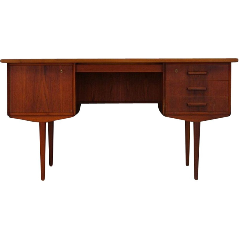 Vintage Scandinavian writing teak desk, 1970
