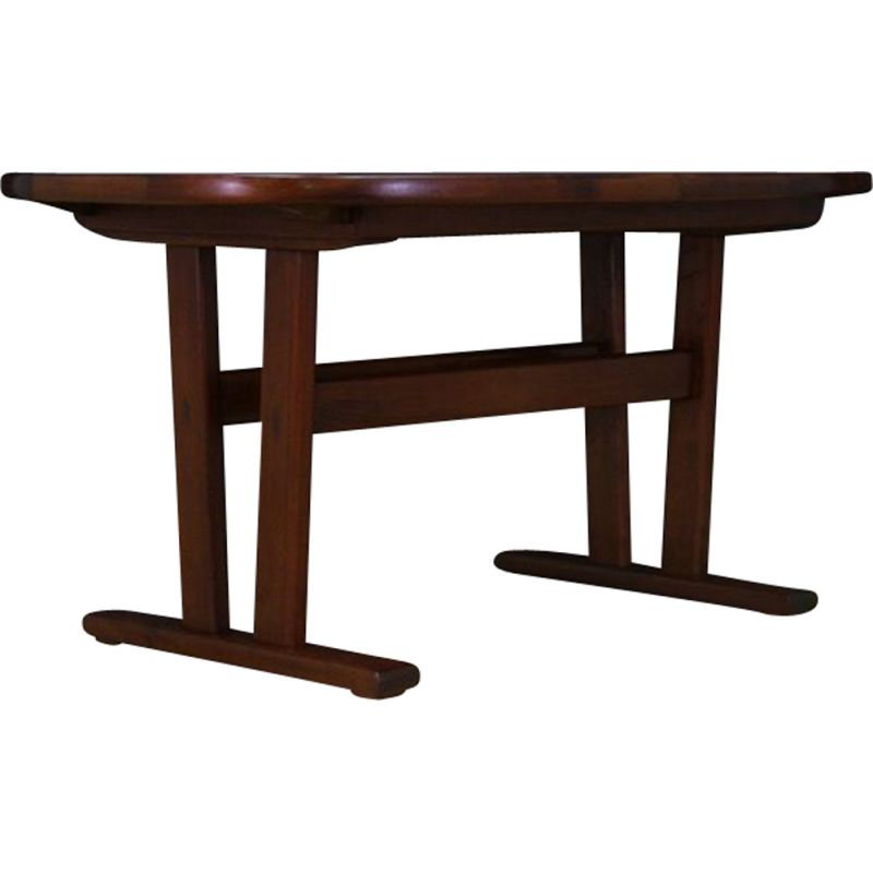 Vintage rosewood table with inserts, Danish design, 1970