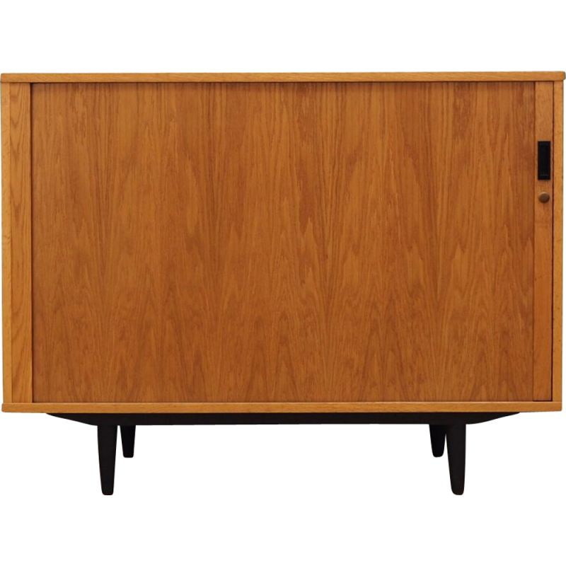 Vintage ashwood cabinet with harmonica doors, Scandinavian design, 1970