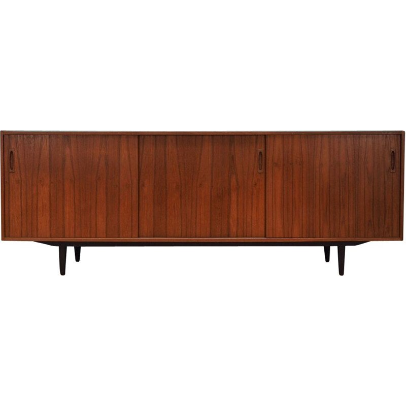 Vintage sideboard in teak veneer with 2 drawers, Danish design, 1970