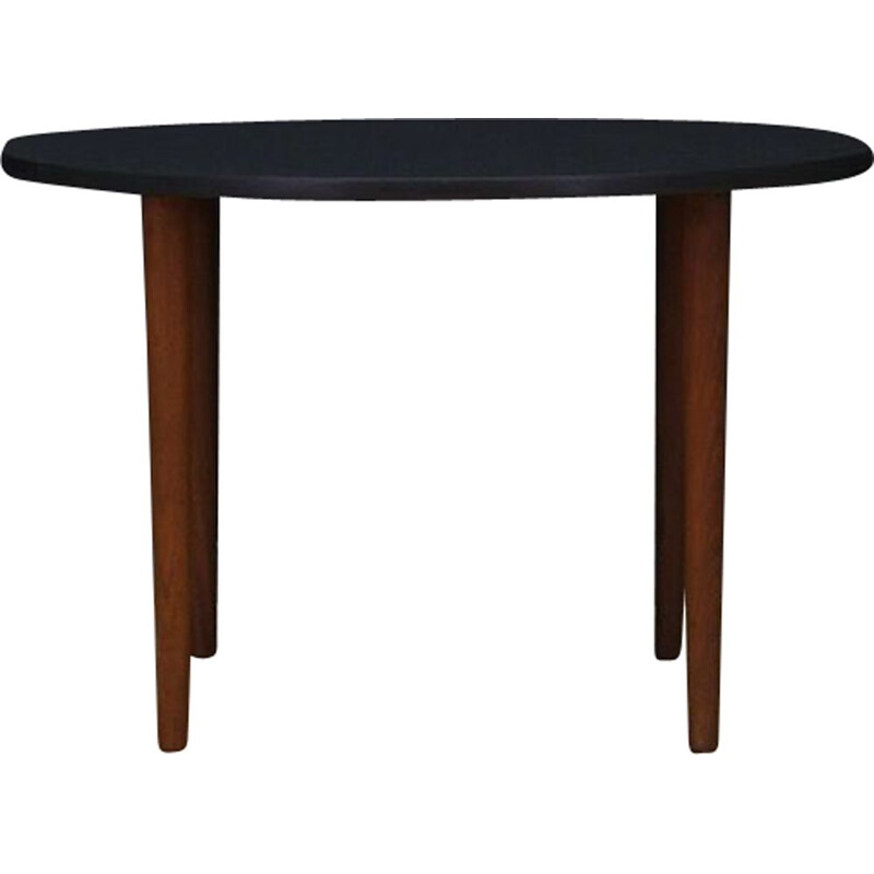 Vintage coffee table with black table top, Danish design, 1960