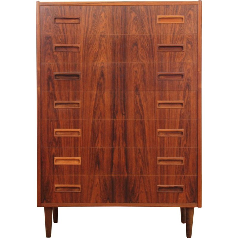 Vintage Scandinavian chest of drawers in Rio palisander with 7 drawers