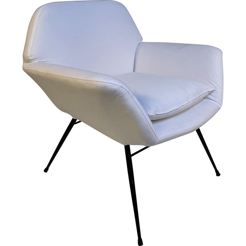 Vintage Italian armchair with tubular structure, 1950