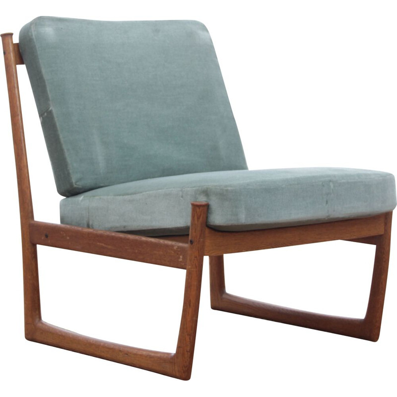 Pair of Scandinavian vintage low chairs model 130 by Peter Hvidt & Mølgaard Nielsen