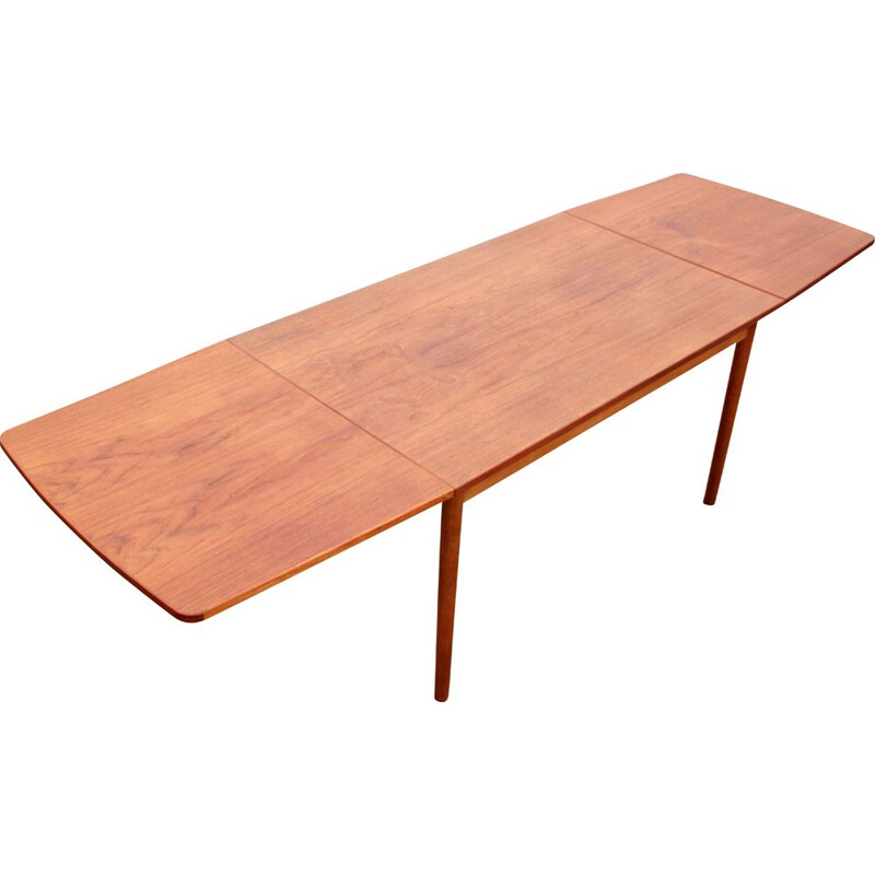 Vintage Scandinavian dining table with teak extensions