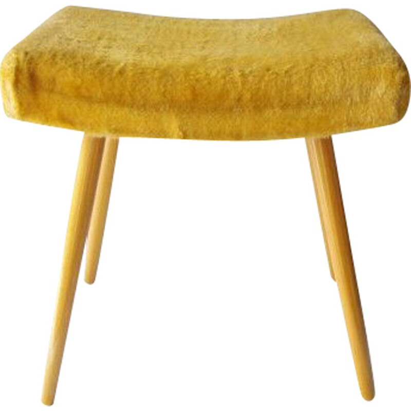 Vintage yellow Stool 1960s