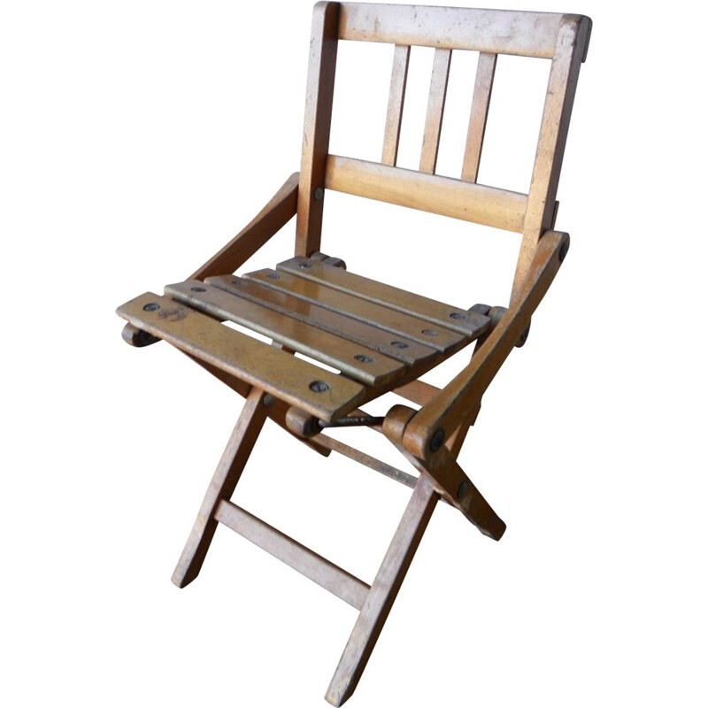 Vintage Folding kid chair, 1950s.