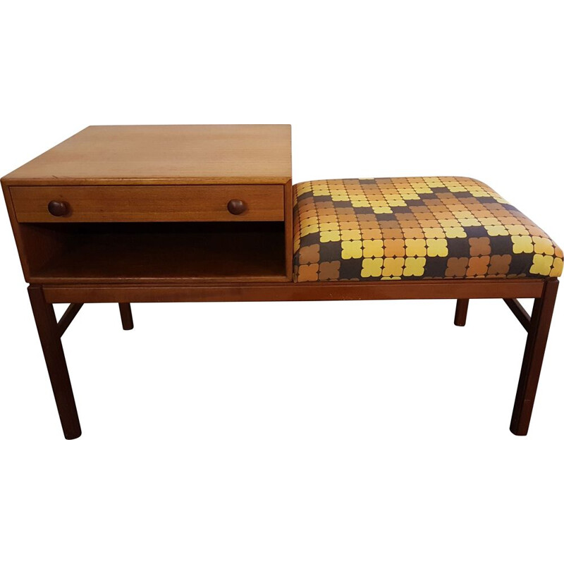 Vintage Swedish Telephone Table & Bench from Tingströms 1960s