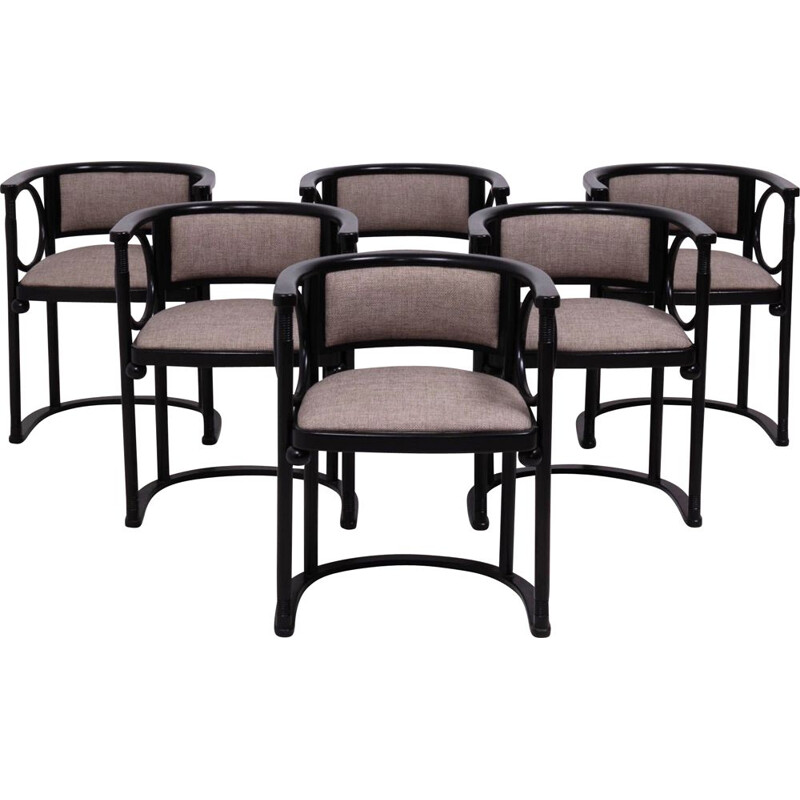 Set of 6 chairs by Josef Hoffmann for Wittmann in Bent wood 1930
