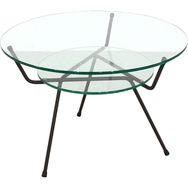 Vintage Tripod Coffee Table by WH Gispen for Kembo