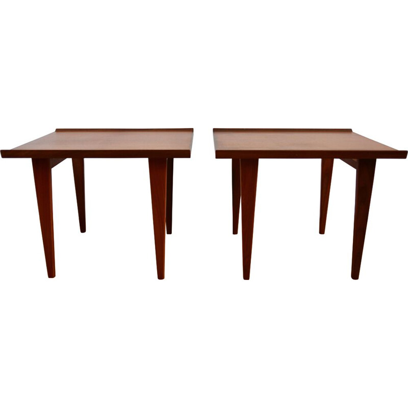 Pair of Scandinavian teak vintgae tables, 1960