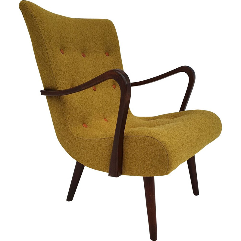 Vintage Danish armchair, 1950s, reupholstered