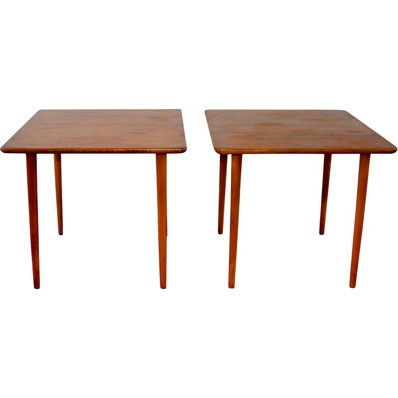 Pair of vintage teak coffee tables, 1960