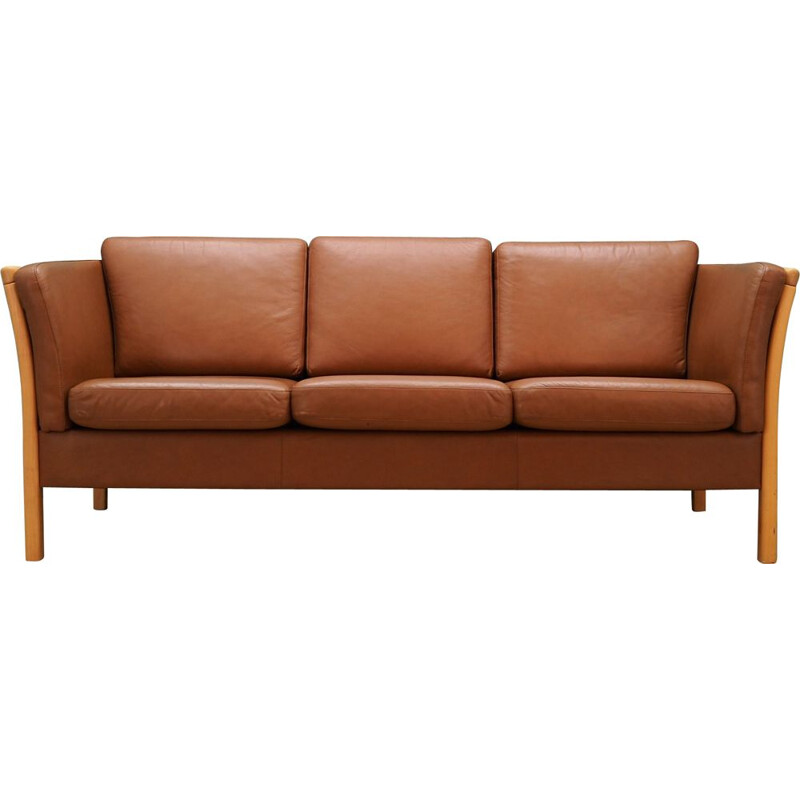 Vintage leather Sofa by Stouby Workshop, 1960-70s