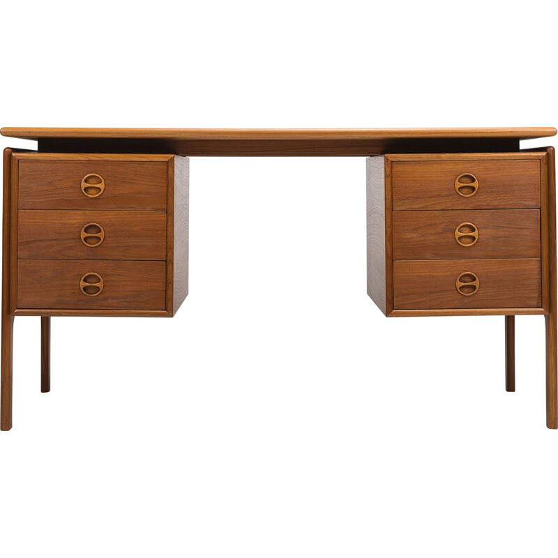 Vintage wooden desk by GV Gasviga for GV Møbler, 1960s
