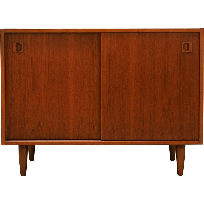 Vintage small sideboard in teak veneer, 1960-70s