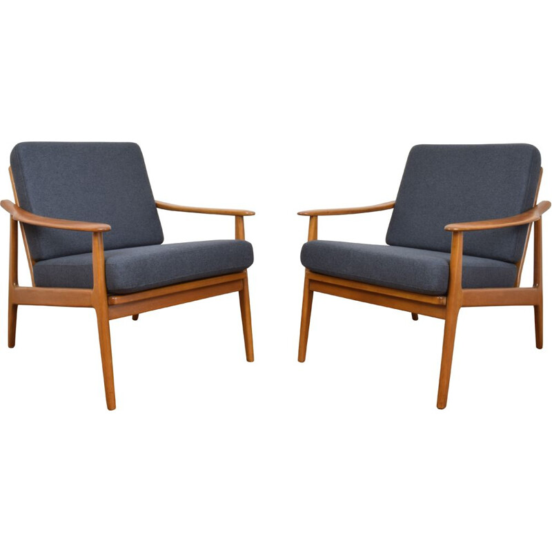 Vintage pair of Danish Armchairs, 1960s