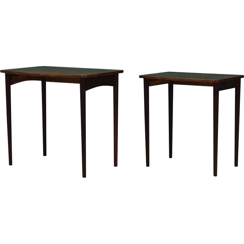 Pair of Vintage rosewood danish nesting tables 1960