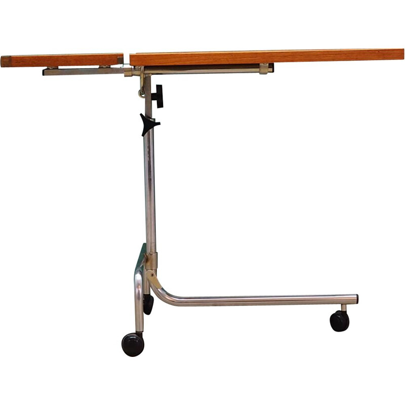 Vintage ajustable drawing table in teak 1960