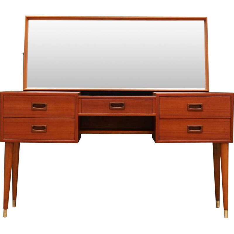 Danish teak vintage dressing table, 1970