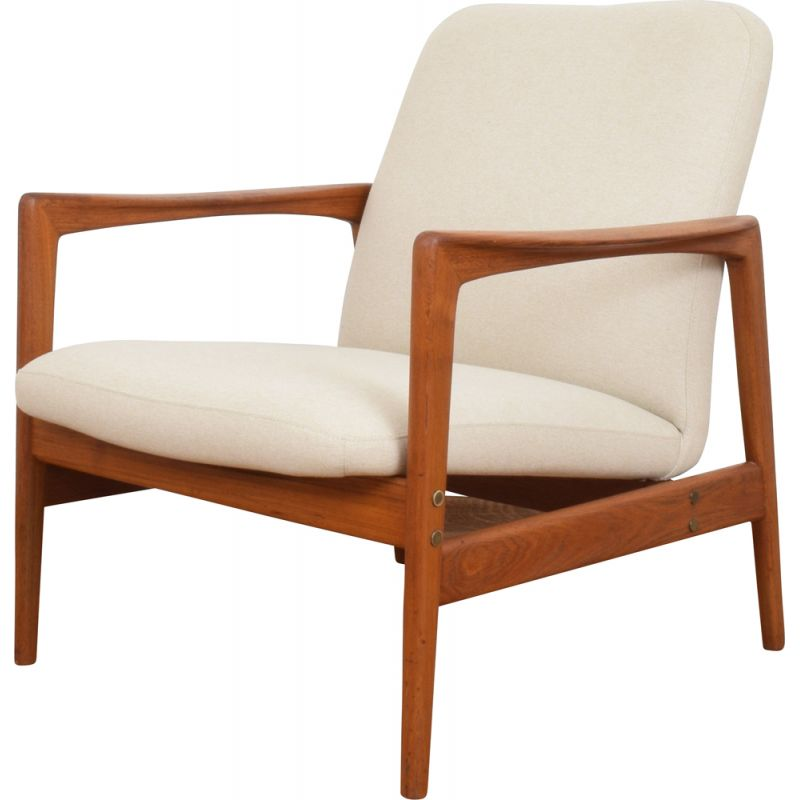 Vintage teak easy chair by Folke Ohlsson for Dux, 1960s