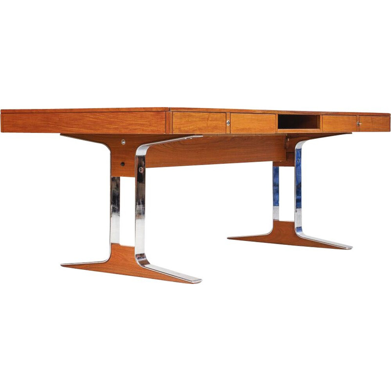 Vintage executive desk in rosewood by Kondor, 1969
