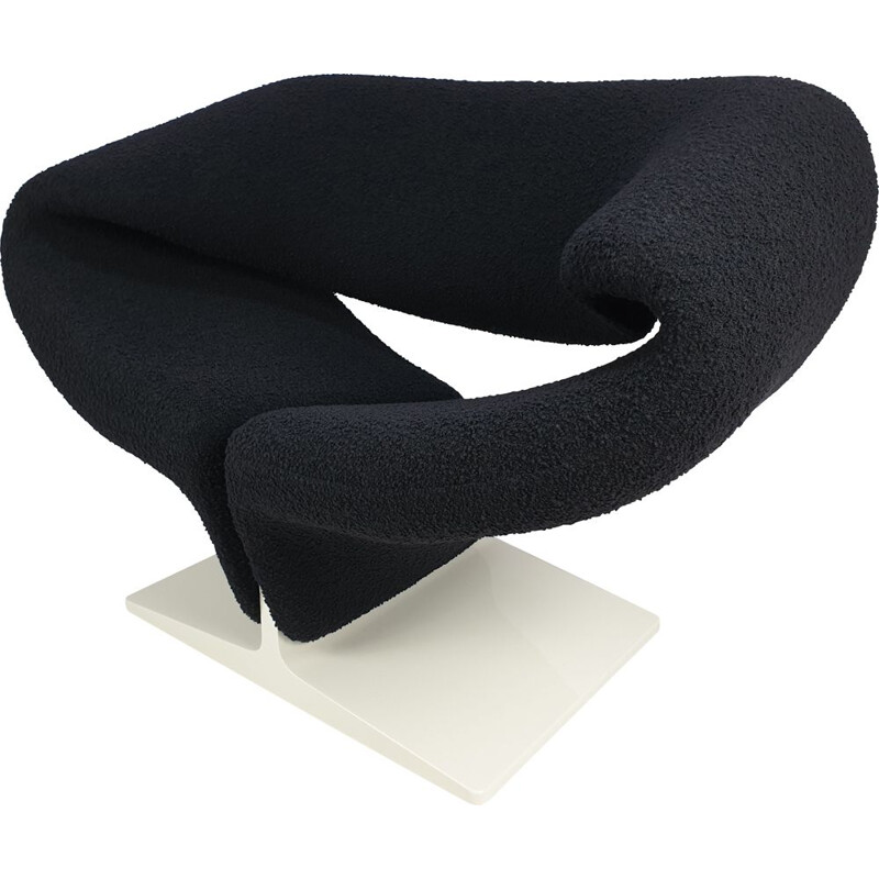 Vintage black Ribbon chair by Pierre Paulin for Artifort, 1960s