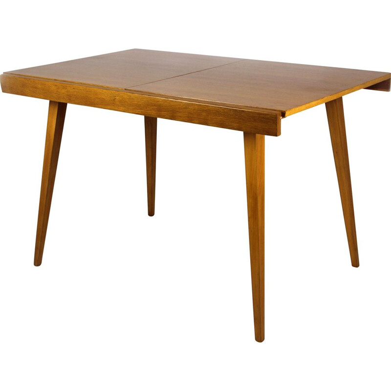 Oak folding dining table by František Jirák for Tatra, 1960s