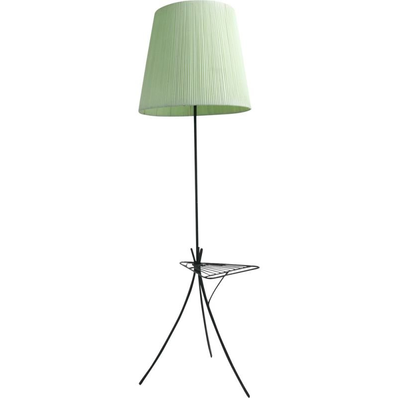 Vintage floor lamp with stand, 1950s