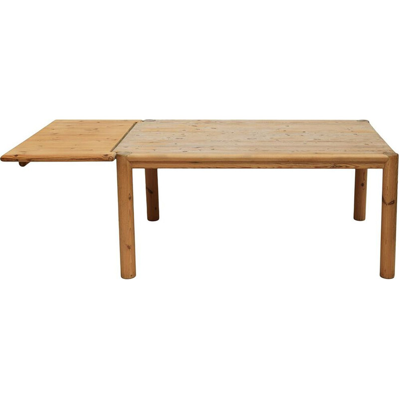 Extendable vintage pine table by Rainer Daumiller for Hirtshals Sawmill, 1970s