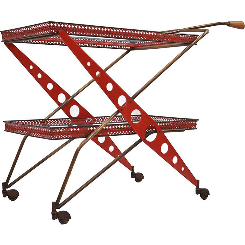 Vintage bar trolley, 1950s
