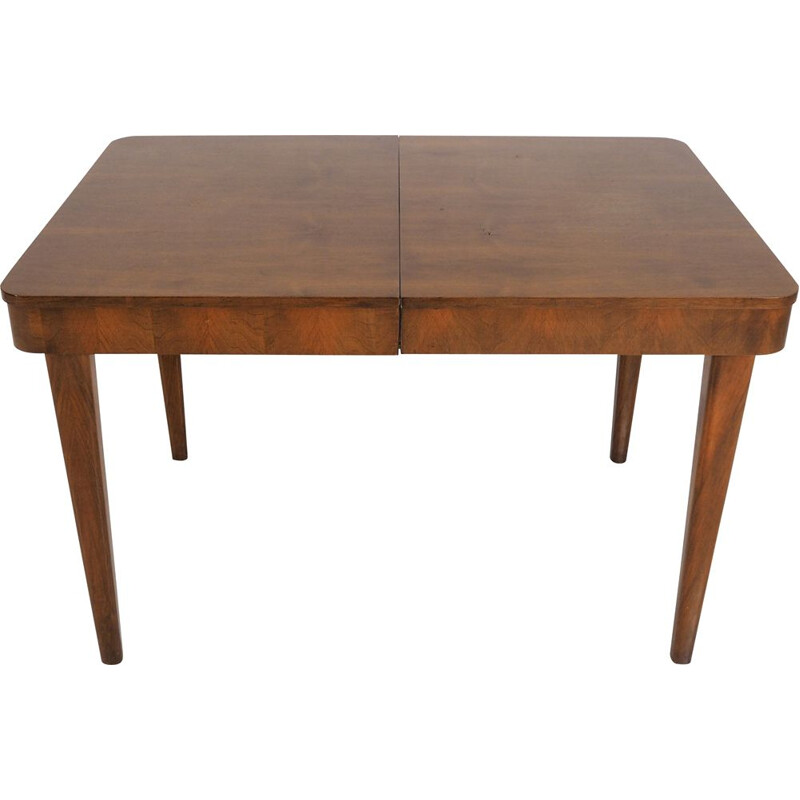 Czech Art Deco vintage dining table by Jindřich Halabala for UP Zavody, 1950s
