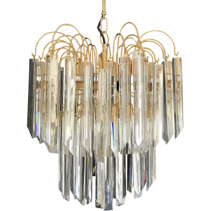 Large vintage chandelier by Venini, 1970