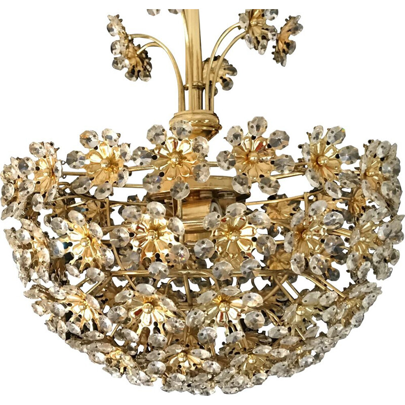 Vintage Bakalowits crystal flower chandelier