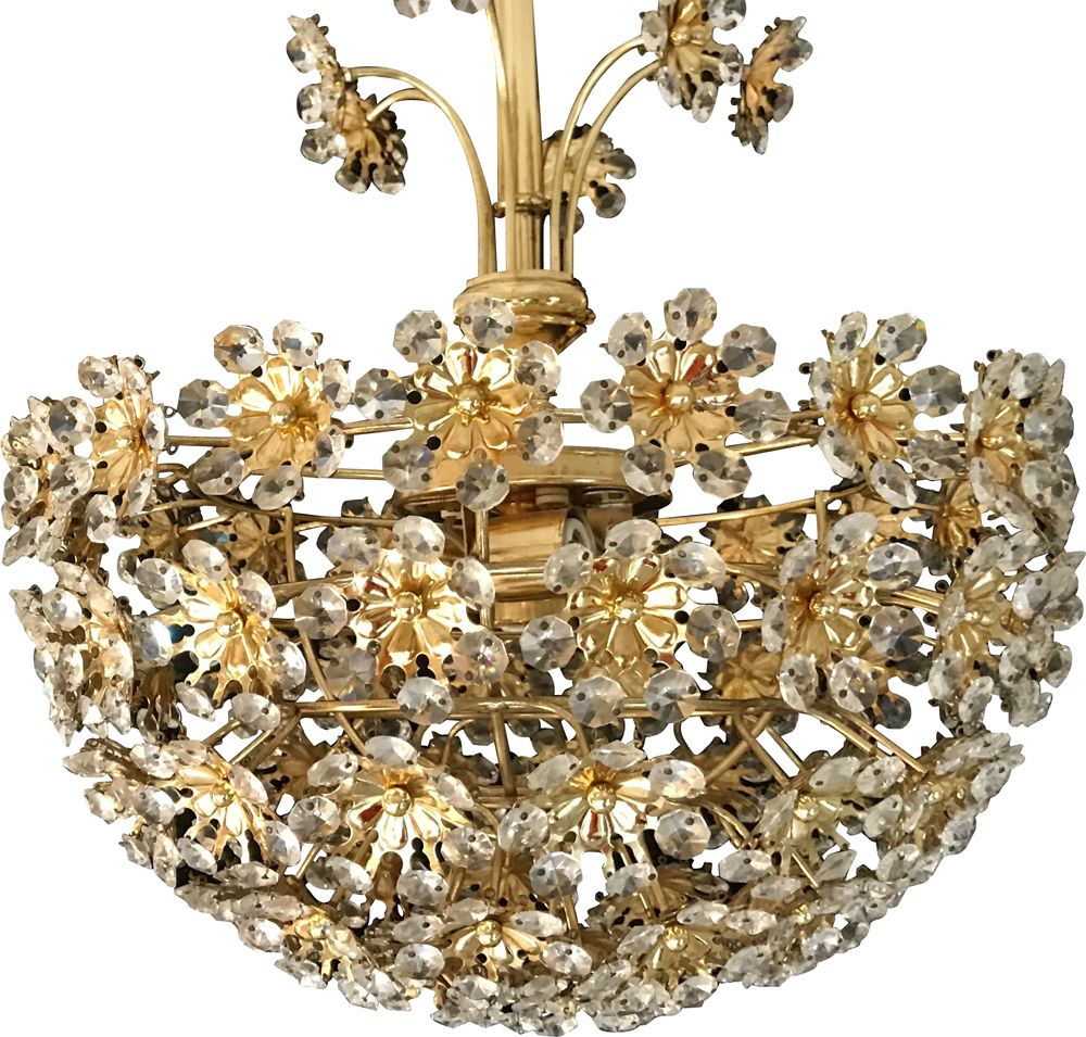 Vintage Bakalowits Crystal Flower Chandelier Design Market