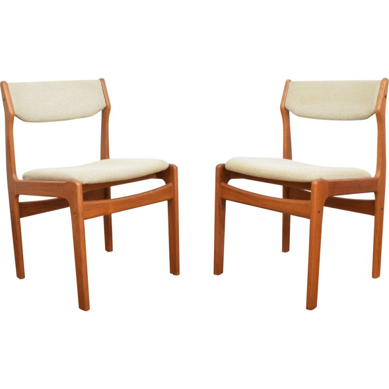 Set of 2 vintage Teak Dining Chairs, 1960s