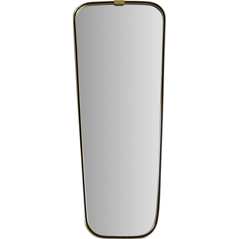 Vintage mirror with golden frame, 1950s