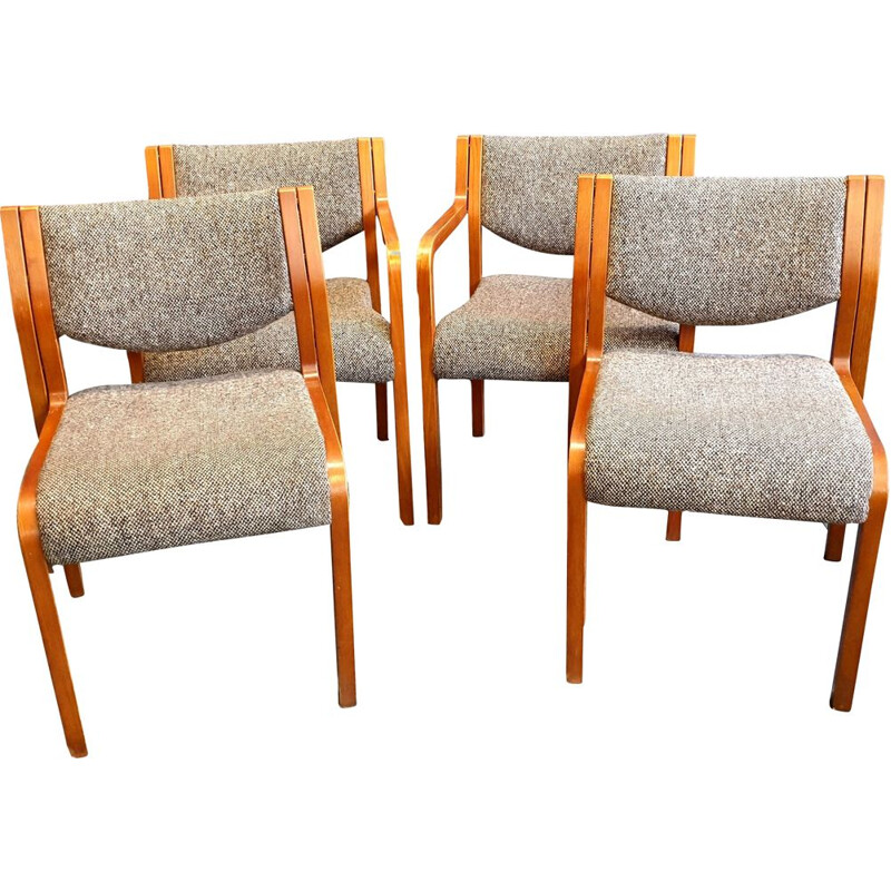 Set of 4 Vintage Dining Chairs from Tract, 1970-80s