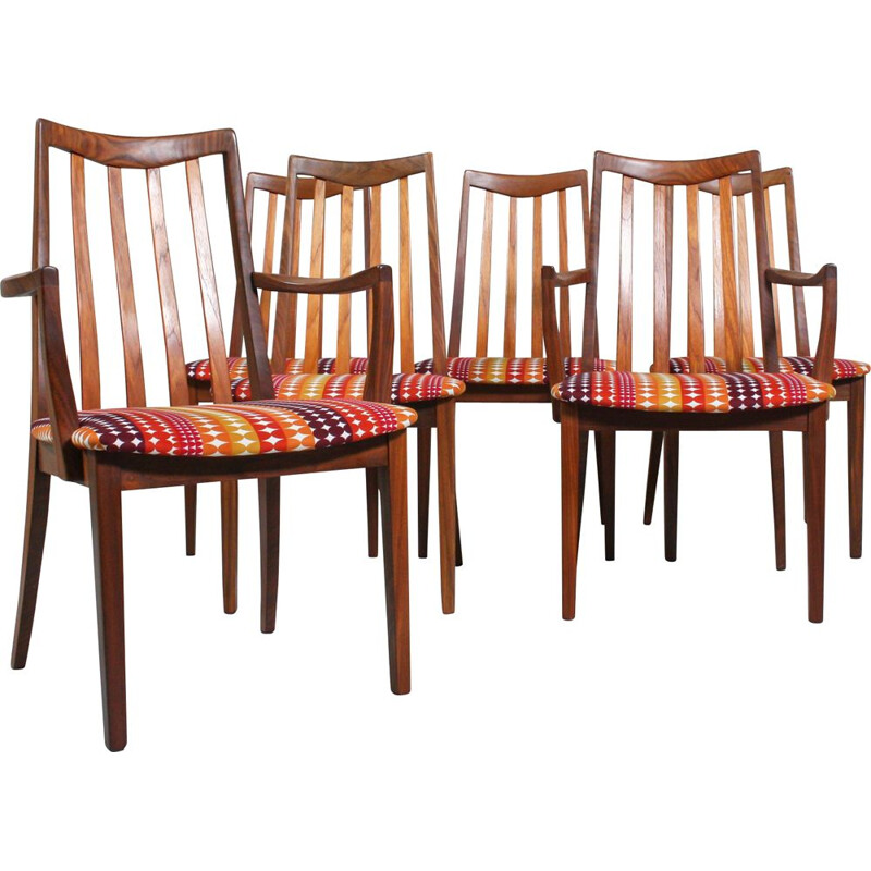 Set of 6 vintage dining chairs by Gplan, 1960s