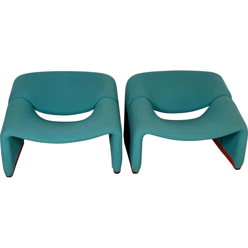 Pair of vintage F598 Groovy Chairs by Pierre Paulin for Artifort, 1970s
