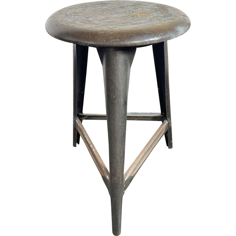 Vintage tripod Workshop Stool, Germany, 1930s