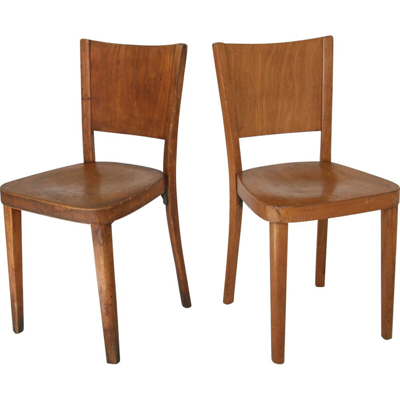 Set of 2 vintage bentwood dining chairs from Thonet