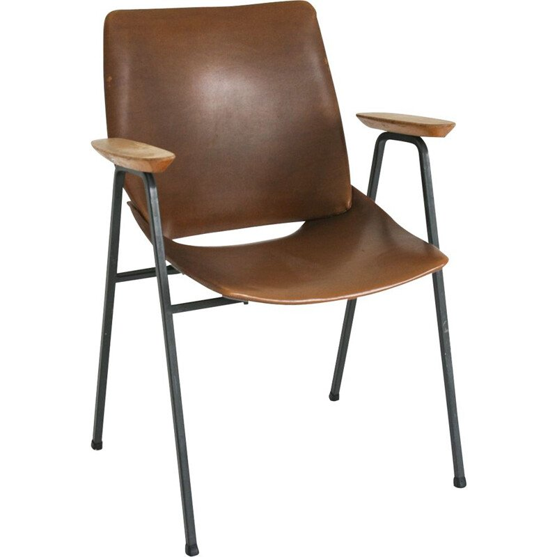 Vintage Brown Lupina chair from Niko Kralj for Stol, 1970s